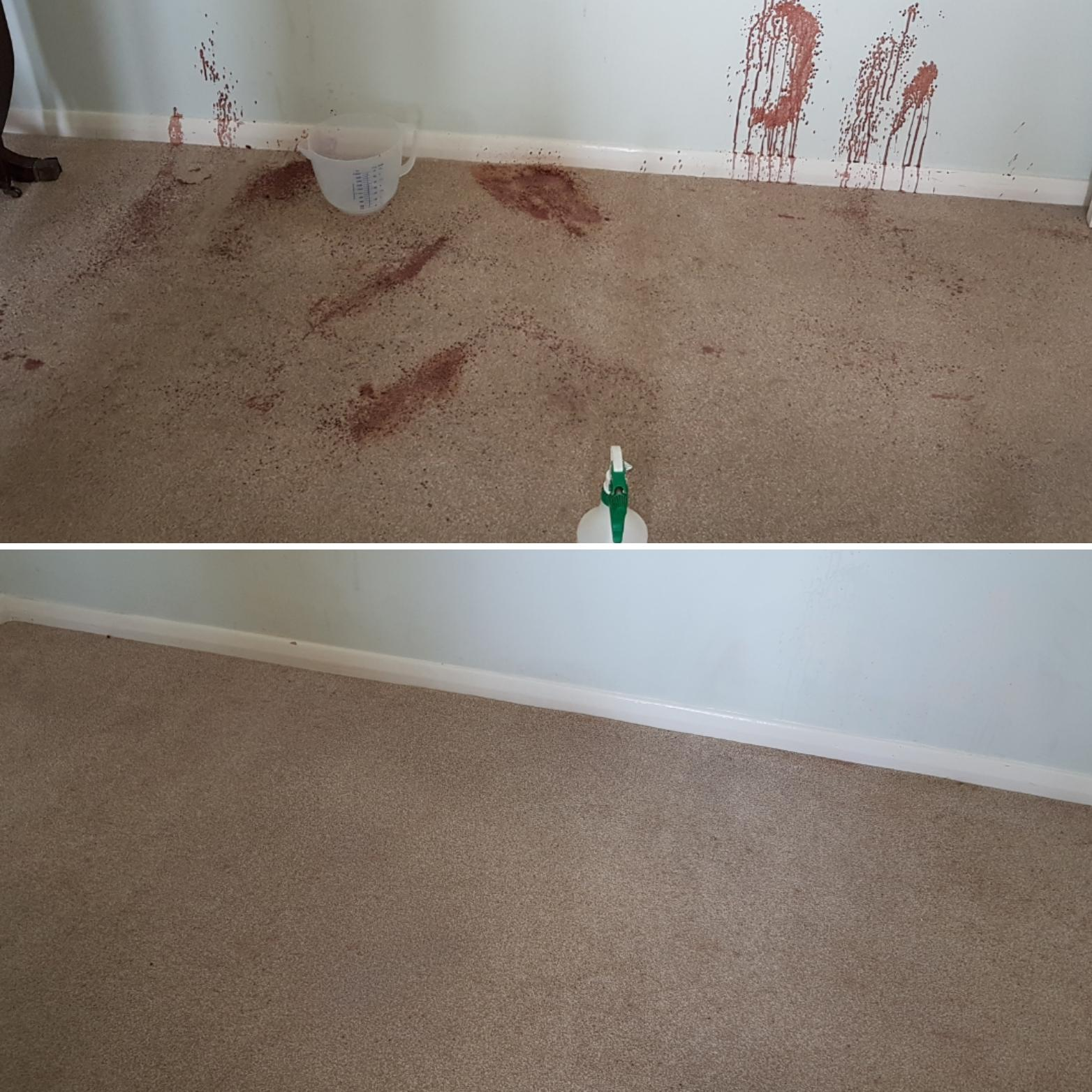 before after red stains