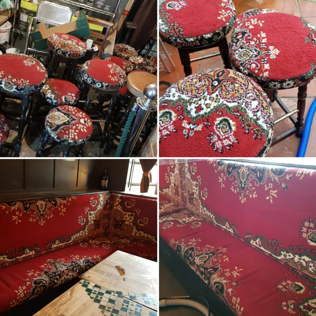Pub upholstery